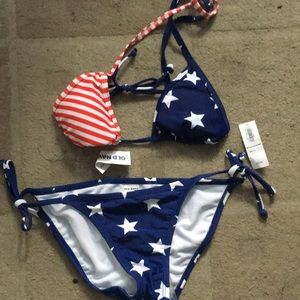Brand new Americana swim suit